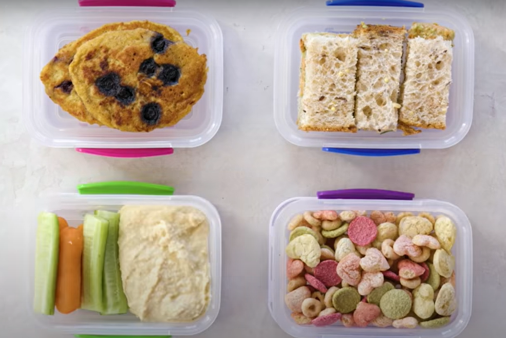 Healthy snacks for infants to eat when they're hungry but not necessarily full